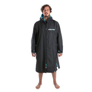 DryRobe Advanced Long Sleeve poncho Black/Blue