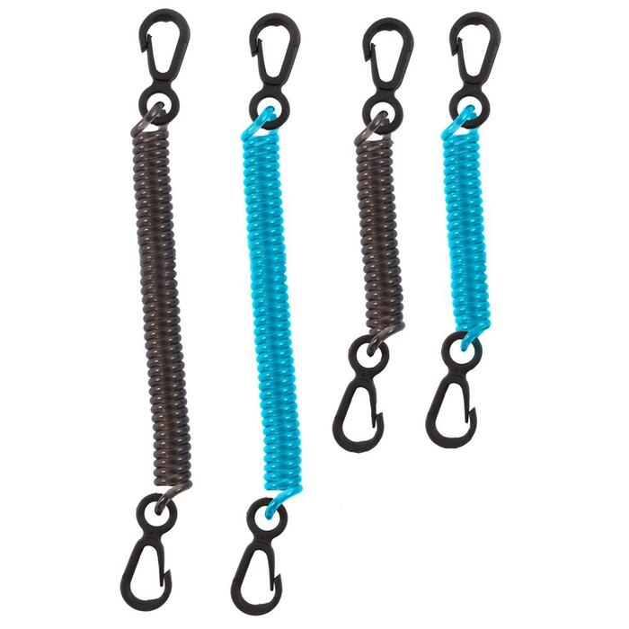 Seattle Sport DryDoc Coiled Tether sikringsstropper - Blue/Black