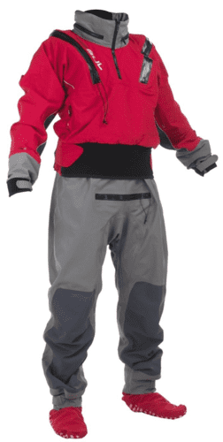 Gul Taw U-Zip Drysuit kajaktørdragt  - Red/Grey